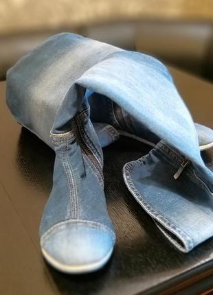 Продам крутые джинсовые сапоги-ботфорты stefani e-sax4 фото