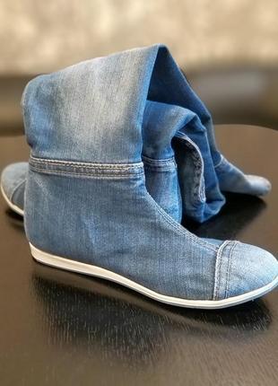 Продам крутые джинсовые сапоги-ботфорты stefani e-sax2 фото