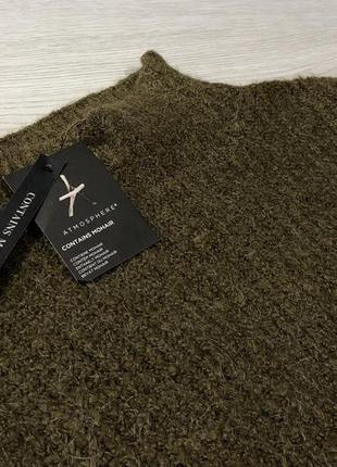 Тёплый свитер оливкового цвета atmosphere4 фото