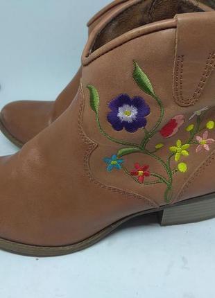 Кожаные ботинки 38 размер3 фото