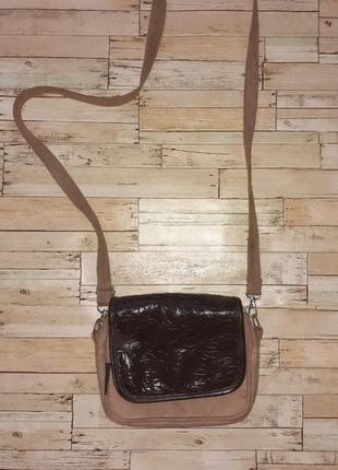 Брендовая, замшевая сумочка