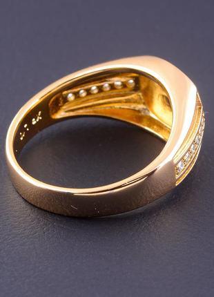 Кольцо 'xuping' фианит (позолота 18к) 07718703 фото