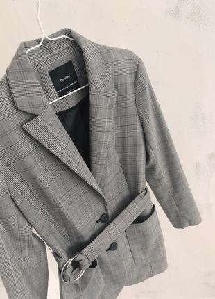 Актуальный пиджак в клетку bershka4 фото