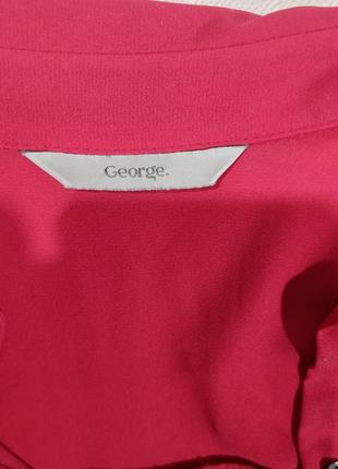 Блузка классическая прчмая  малинового цвета6 фото