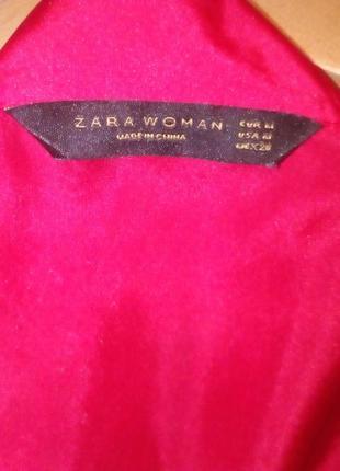 Zara woman шелковая блуза на запах 123 фото