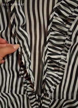Блуза а черно-белую полоску2 фото