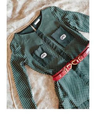 Зелёное платье whistles в стиле 60-ых выше колена1 фото
