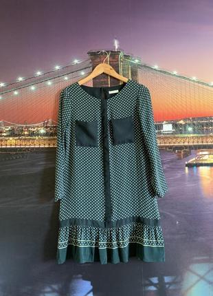 Зелёное платье whistles в стиле 60-ых выше колена2 фото