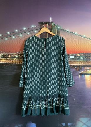Зелёное платье whistles в стиле 60-ых выше колена3 фото