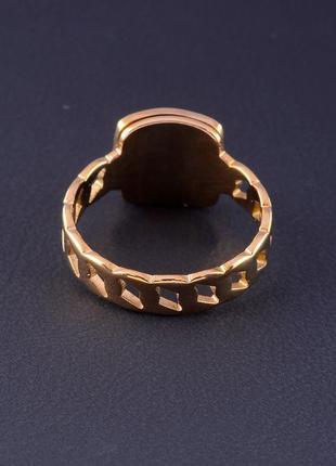 Кольцо 'stainless steel' эмаль (позолота 18к) 05247903 фото
