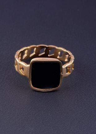 Кольцо 'stainless steel' эмаль (позолота 18к) 05247901 фото