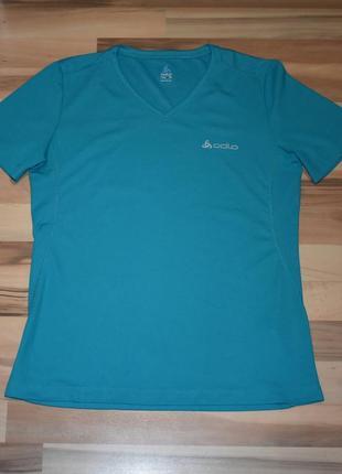 Очень классная спортивная футболка насыщенного цвета odlo1 фото
