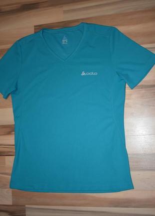 Очень классная спортивная футболка насыщенного цвета odlo2 фото