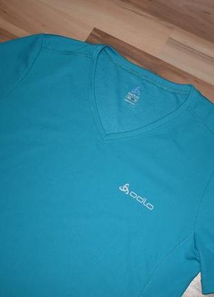 Очень классная спортивная футболка насыщенного цвета odlo5 фото