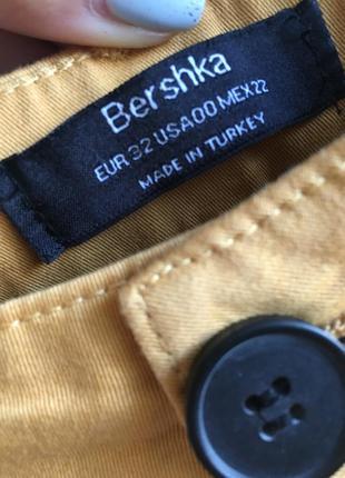Горчичные брюки bershka2 фото