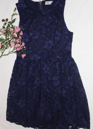 Платье мини синего цвета
