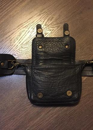 Кожаная поясная сумка3 фото