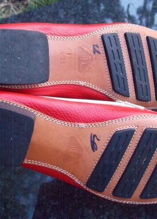 """Р.39 """"bottega"""" италия,натуральная кожа туфли/лоферы  25.5 см8 фото"""