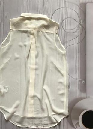 Блуза легкая рубашка без рукавов h&m!5 фото