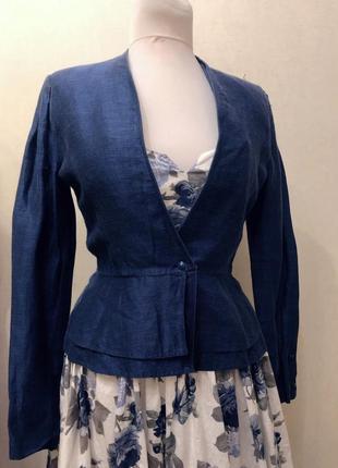 Жакет пїжак льон/ льняной пиджак лён1 фото
