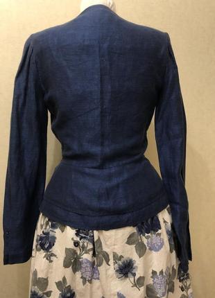 Жакет пїжак льон/ льняной пиджак лён5 фото