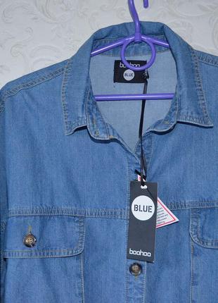 Оверсайз рубашка boohoo p 123 фото