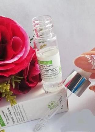 Серум для лица чайное дерево tea tree acne repair anti-serum vibrant glamour от воспалений6 фото