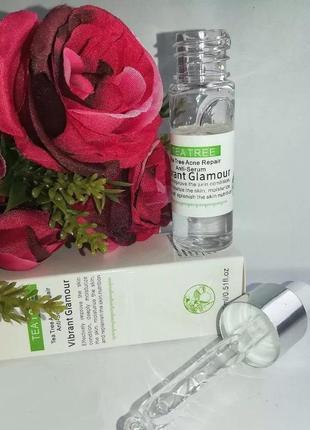 Серум для лица чайное дерево tea tree acne repair anti-serum vibrant glamour от воспалений5 фото