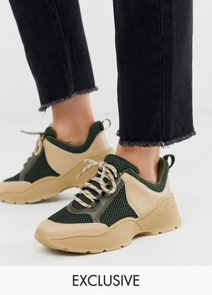 Брендовые новые хаки бежевые кроссовки1 фото