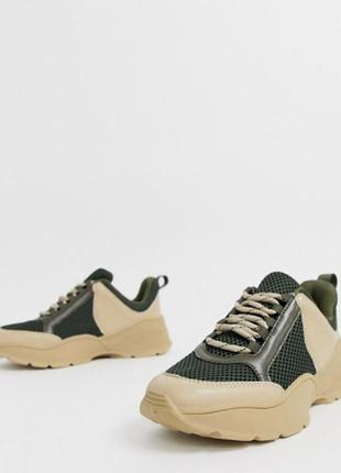 Брендовые новые хаки бежевые кроссовки4 фото