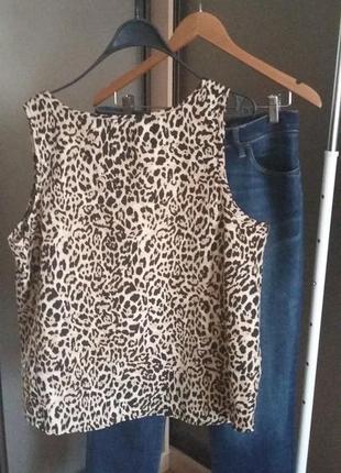 Майка леопардовый принт3 фото