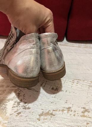 Кожаные натуральные ботинки4 фото