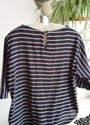 Блуза в полоску, лен хлопок2 фото