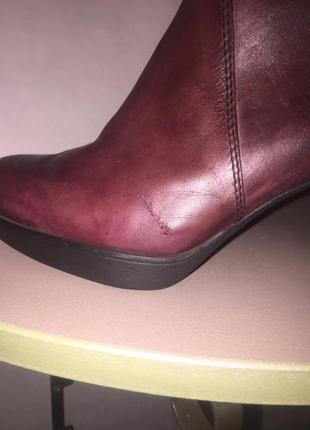 Ботинки ботильоны марсалового цвета со вставками под змеиную кожу8 фото
