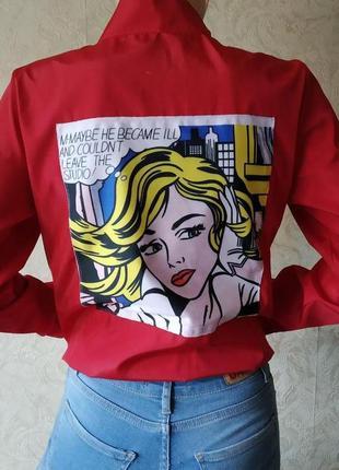 Бомбер куртка с принтом pop art1 фото
