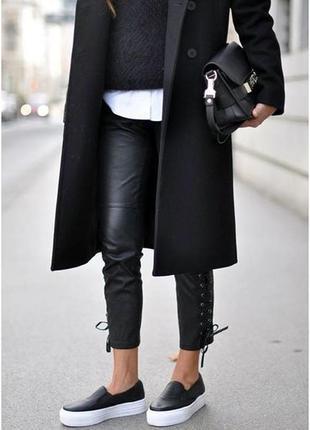Пальто с воротником стойкой из шерсти и кашемира1 фото