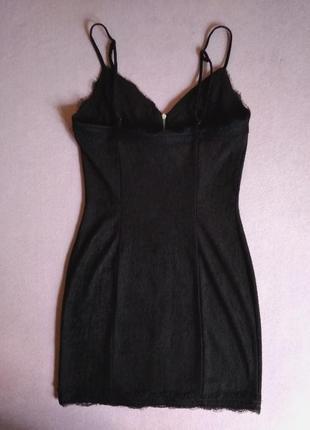 Фактурное платье на молнии с кружевом - 20% скидка!3 фото