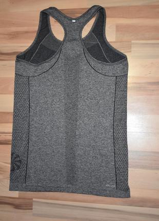 Бесшовная спортивная майка nike dry fit оригинал  серый меланж5 фото
