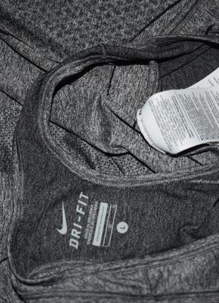 Бесшовная спортивная майка nike dry fit оригинал  серый меланж8 фото
