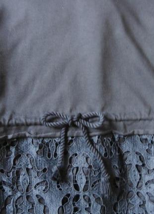 Роскошное платье-свитшот с кружевом, платье гипюр3 фото