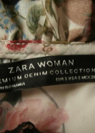 Нежная шифоновая блуза zara в цветочный принт, блуза с оборками, рюшами8 фото