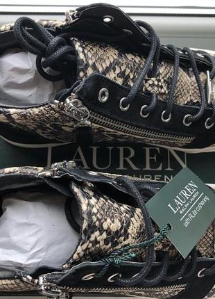 Хайтопы ralph lauren, оригинал, размер 37,5, сникерсы2 фото
