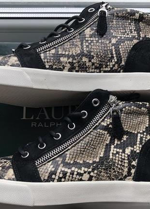 Хайтопы ralph lauren, оригинал, размер 37,5, сникерсы3 фото
