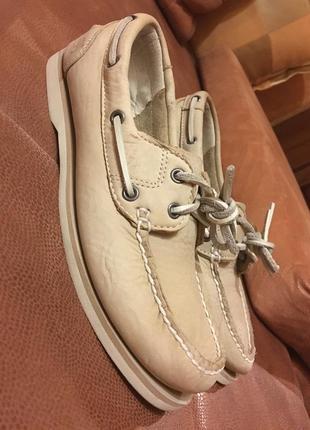 Timberland топсайдеры кожаные мокасины туфли р39 фото