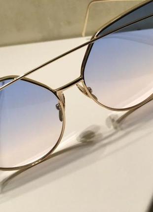 Солнцезащитные женские очки кошачий глаз cat eye градиент1 фото