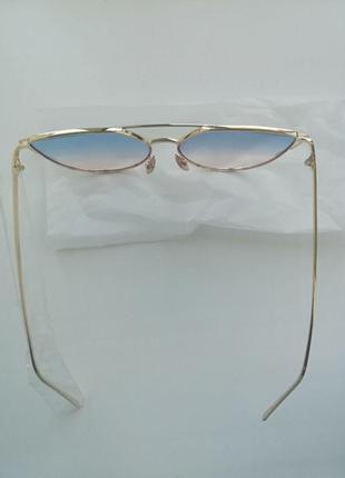 Солнцезащитные женские очки кошачий глаз cat eye градиент3 фото