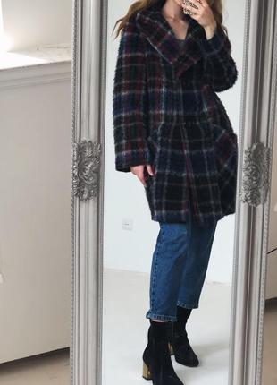 Роскошное шерстянное  пальто в красивую клетку от elegance paris3 фото