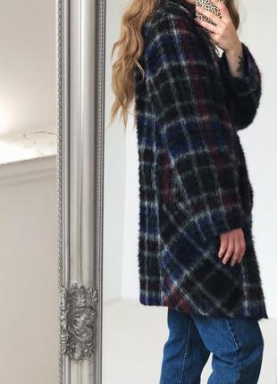 Роскошное шерстянное  пальто в красивую клетку от elegance paris4 фото