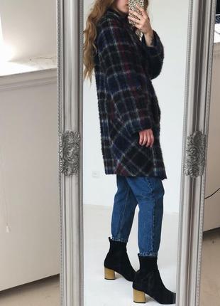 Роскошное шерстянное  пальто в красивую клетку от elegance paris6 фото