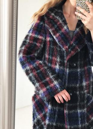 Роскошное шерстянное  пальто в красивую клетку от elegance paris9 фото